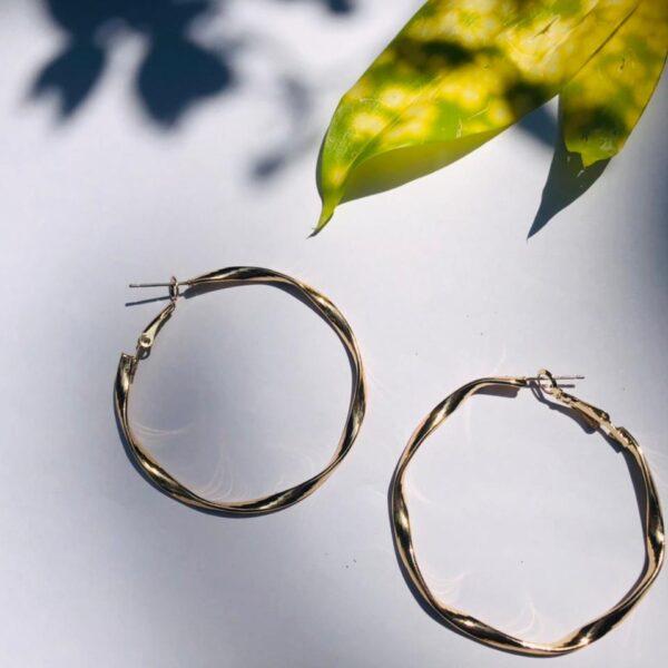 Big hoop round earrings
